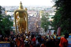 Festival de Thaipusam: De la tapa de las cuevas de Batu Imagen de archivo libre de regalías