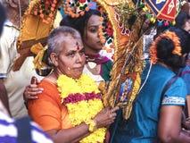 Festival 2012 de Thaipusam : Pélerin total de dévotion image stock