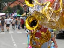 Festival 2018 de trompette de Guca Images libres de droits