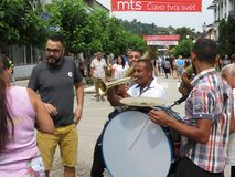 Festival 2018 de trompette de Guca Image stock