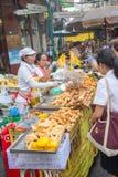 Festival de végétarien de nourriture de rue de ville de Bangkok Chine Photo stock
