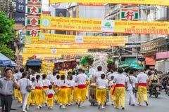Festival de végétarien de nourriture de rue de ville de Bangkok Chine Image libre de droits