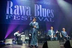 Festival 2014 dei blu di Rawa: I ragazzi ciechi dell'Alabama Immagine Stock Libera da Diritti