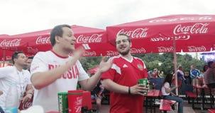Festival dei fan della FIFA sulle colline del passero video d archivio