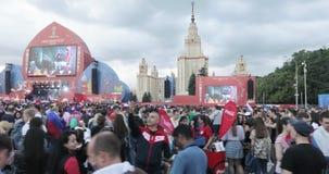 Festival dei fan della FIFA sulle colline del passero stock footage