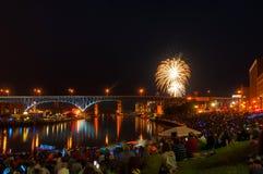 Festival dei fuochi d'artificio Fotografie Stock
