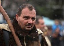 Festival dei giochi Surova di travestimento in Breznik, Bulgaria Immagine Stock Libera da Diritti