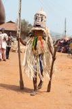 Festival dei gradi di età di Otuo - travestimento in Nigeria Fotografia Stock Libera da Diritti