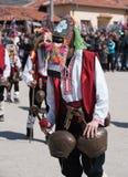Festival dei Mummers in Paisievo, Bulgaria fotografia stock libera da diritti