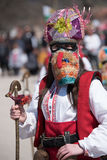 Festival dei Mummers in Paisievo, Bulgaria immagini stock