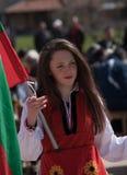 Festival dei Mummers in Paisievo, Bulgaria immagine stock