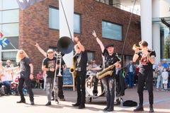 festival dei Paesi Bassi-Winschoten Waterbei di via-arte fotografia stock