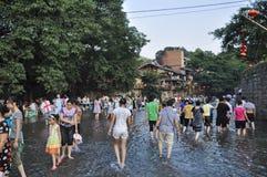 Festival del agua en ciudad antigua Imagen de archivo libre de regalías
