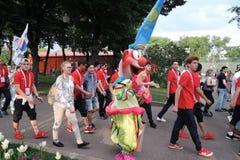 festival del Arte-fútbol en Moscú Equipo de Rusia Fotografía de archivo