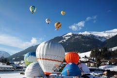 Festival del balón de aire, Château-d 'Oex fotos de archivo libres de regalías
