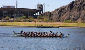 Festival del barco del dragón de Arizona en el lago town de Tempe Imagen de archivo libre de regalías