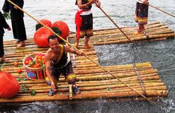 Festival del barco del dragón en Guizhou Huishui Foto de archivo libre de regalías