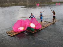 Festival del barco del dragón en Guizhou Huishui Imágenes de archivo libres de regalías