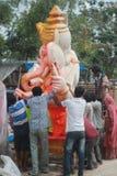 Festival del chaturthi de Ganesh en Hyderabad, la India Foto de archivo libre de regalías