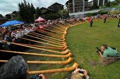 Festival del claxon alpestre Foto de archivo