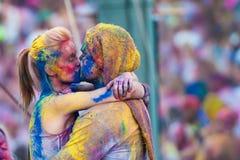 Festival del color Holi un partido Fotos de archivo