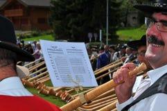 Festival del corno alpino Fotografie Stock