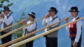 Festival del corno alpino Immagine Stock Libera da Diritti