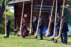 Festival del corno alpino Fotografia Stock