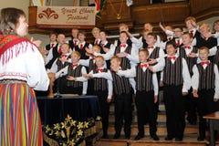 Festival del coro de la juventud Imágenes de archivo libres de regalías