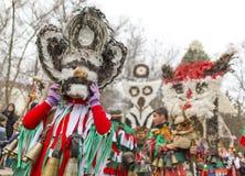 Festival del costume della maschera di Surva fotografia stock libera da diritti