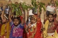 Festival del desierto en Jaisalmer, Rajasthán, la India Fotografía de archivo libre de regalías