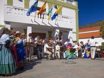 Festival del fiore della mandorla di Tejeda Fotografie Stock