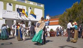 Festival del fiore della mandorla di Tejeda Fotografie Stock Libere da Diritti