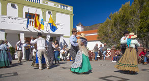 Festival del fiore della mandorla di Tejeda Immagine Stock