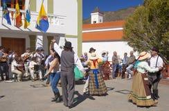 Festival del fiore della mandorla di Tejeda Fotografia Stock Libera da Diritti