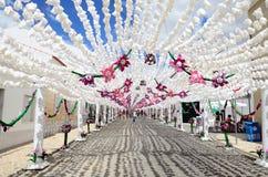 Festival del fiore (festas fanno il povo, il campo Maior 2015, Portogallo) Fotografie Stock