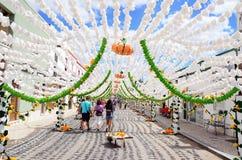 Festival del fiore (festas fanno il povo, il campo Maior 2015, Portogallo) Fotografia Stock Libera da Diritti