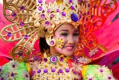 Festival del Flores di Pinta, San Carlos City, occidentale di Negros Fotografia Stock