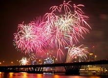 Festival del fuoco d'artificio Fotografia Stock Libera da Diritti