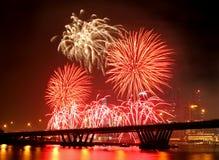Festival del fuoco d'artificio Immagine Stock