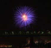 Festival del fuoco d'artificio a Montreal immagini stock