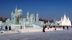 Festival del ghiaccio a Harbin, Cina Fotografie Stock
