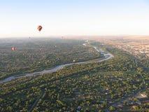 Festival del globo del aire caliente de Albuquerque New México imágenes de archivo libres de regalías