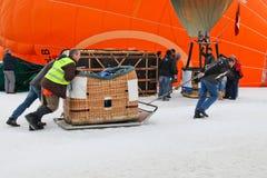 Festival del globo del aire caliente 2012, Suiza Fotografía de archivo