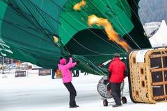 Festival del globo del aire caliente 2012, Suiza Fotos de archivo