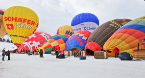 Festival del globo del aire caliente 2012, Suiza Imagen de archivo libre de regalías