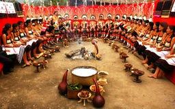 Festival del Hornbill de la Nagaland-India. Fotos de archivo libres de regalías