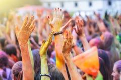 Festival del indio de Holi Imagenes de archivo