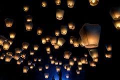 Festival del lanter de Pingxi en Taiwán fotografía de archivo libre de regalías