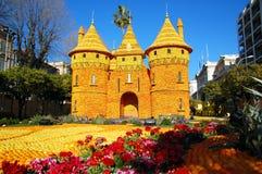 Festival del limone (Fete du Citron) - Menton, Francia immagini stock